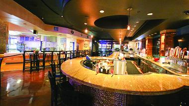 Round bar at 99 Hops House