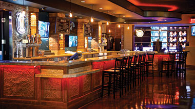 The bar inside 99 Hops House at Hollywood Casino St. Louis, Missouri.