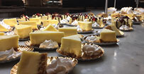 Plates Of Cheesecakes Slices On Display At Eat Up Buffet At Hollywood Casino  In St.