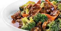 Beef and Broccoli served at Phat Tai at Hollywood Casino in St. Louis, Missouri.