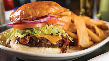Hollywood Casino St. Louis Dining - Cheeseburger and Fries